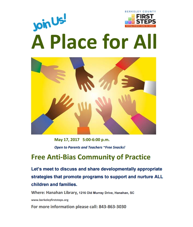 Free Anti-Bias Community of Practice - May 17, 2017