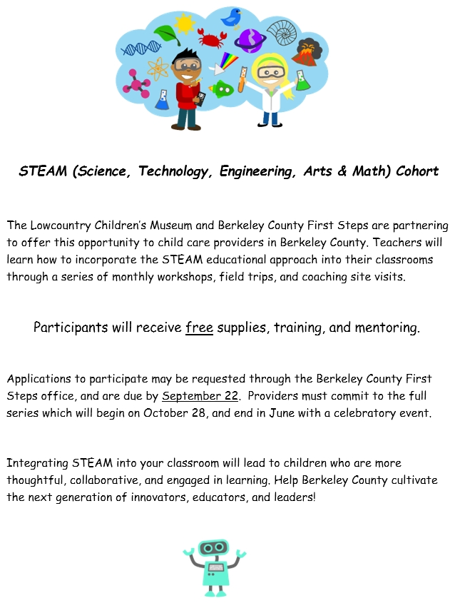 STEAM (Science, Technology, Engineering, Arts & Math) Cohort